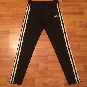 Girls skinny adidas track pants